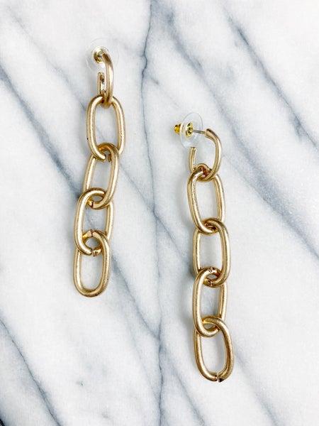 Leesville Chain Drop Earrings