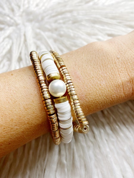 Riverstown Stretch Stack - White