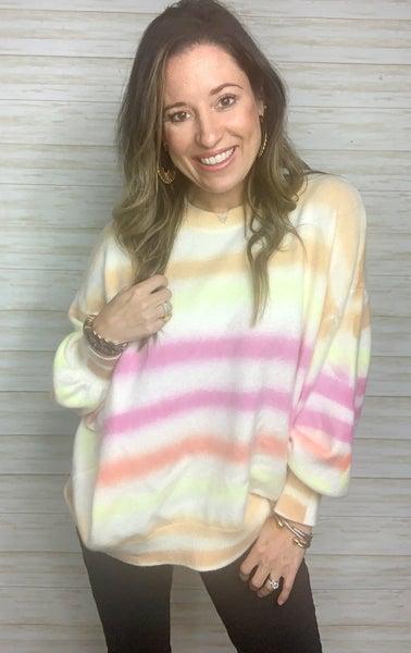 Sara Ombre Stripe Sweater