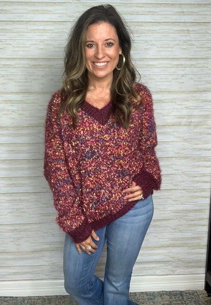 FINAL SALE - Danica Confetti V-Neck Sweater - ML ONLY