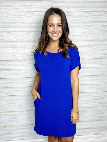 FINAL SALE - Cora Solid Dress with Pockets
