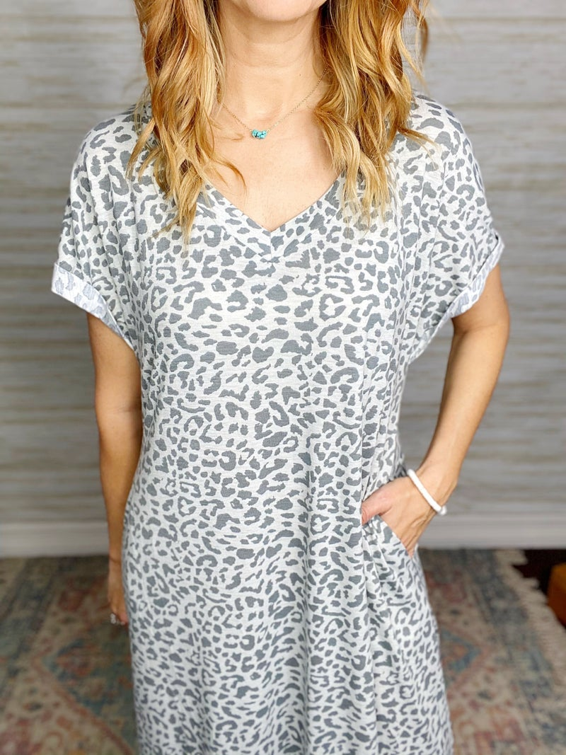 FINAL SALE - Katie Animal Print Maxi Dress