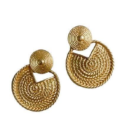 Golden Rope Earrings