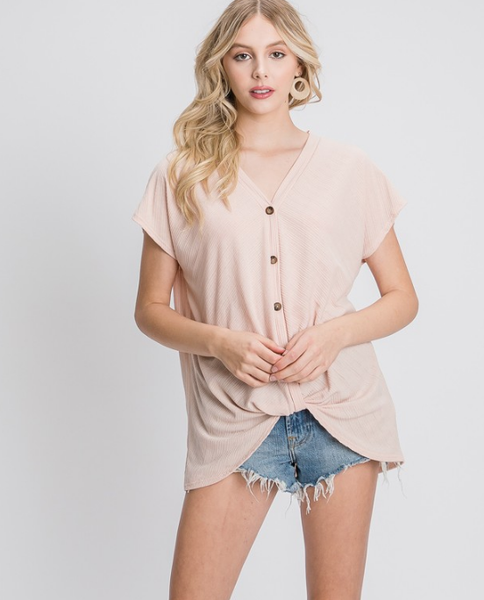 Positive Vibes Top in Pink