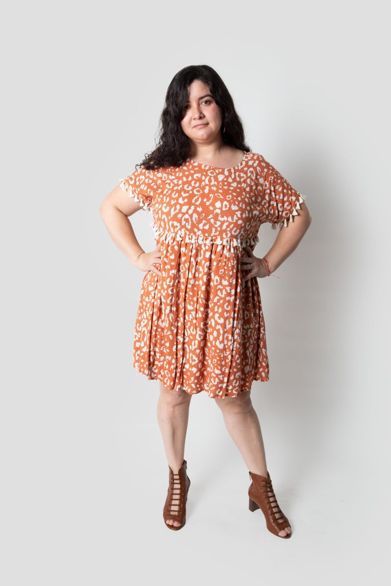 Always Graceful Dress in Dark Orange