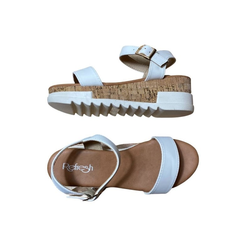 Taking Care of Business Sandals in White