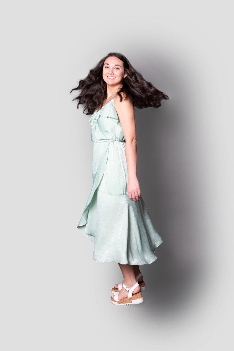 Sea Breeze Dress in Green