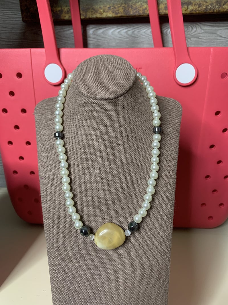 Pearls and Stone Necklace