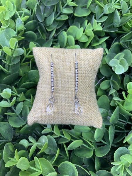 Crystal Fishhook Earrings