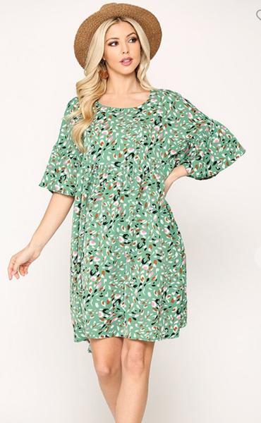 Fun and Flirty Dress in Green