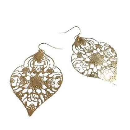 Golden Ornaments Earrings