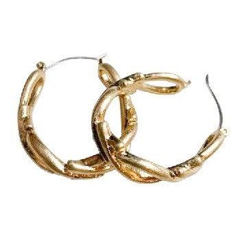 Criss Crossed Earrings in Gold