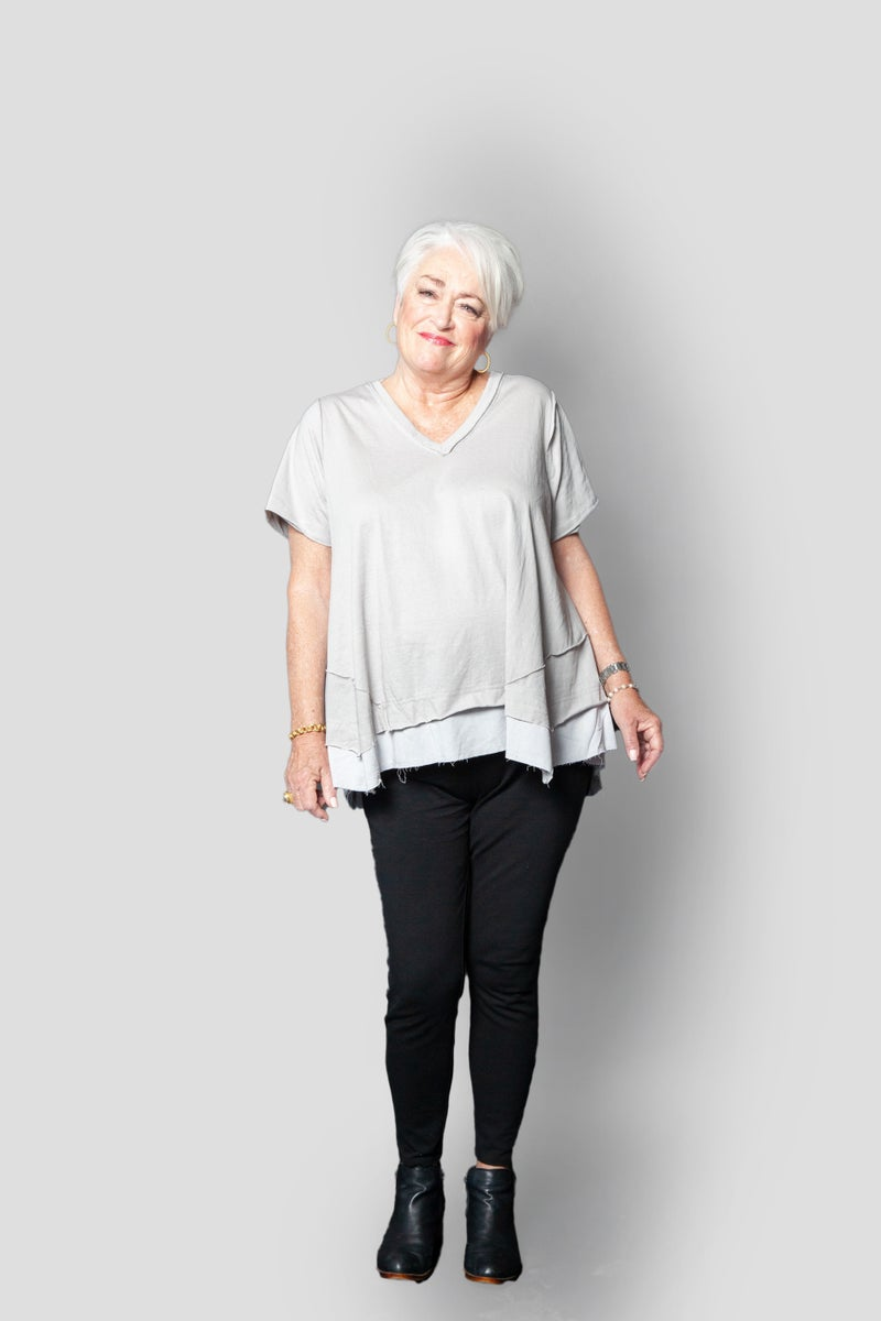 Stay Casual Top in Gray