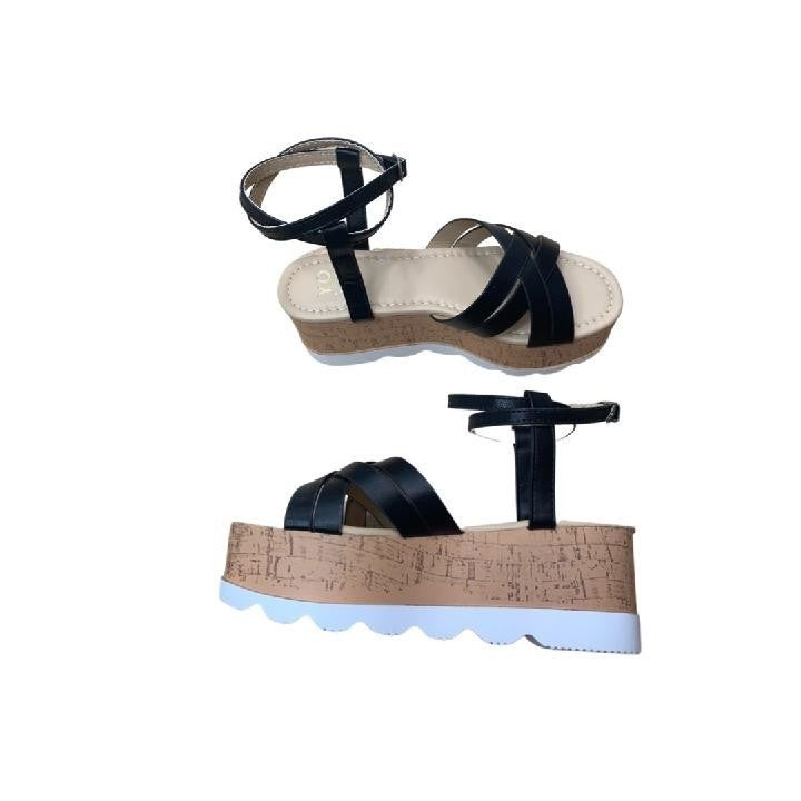 Top of Your Game Sandals in Black
