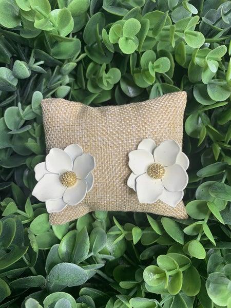 Floral Dreams Earrings in White