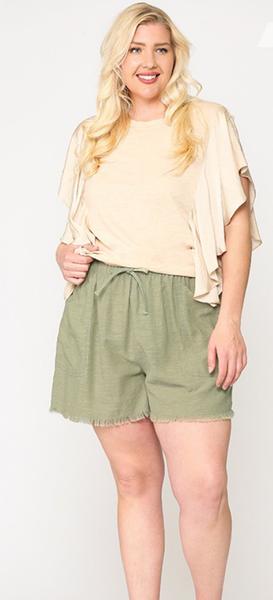 Feelin' Fine Shorts in Green