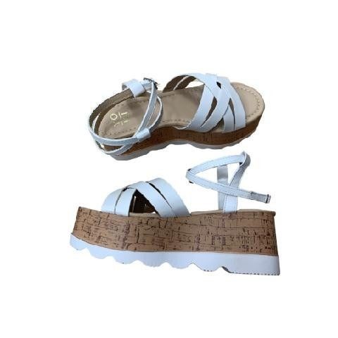 Top of Your Game Sandals in White