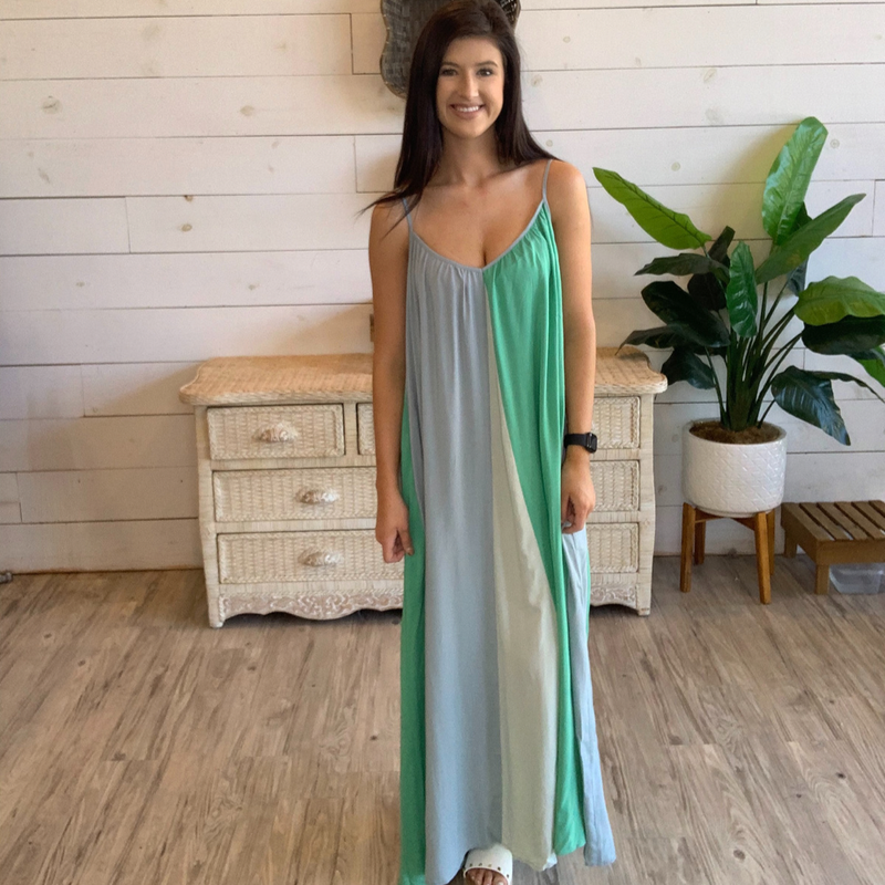 Walk on the Beach Dress in Blue