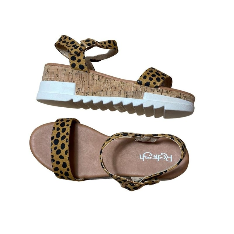 Taking Care of Business Sandals in Leopard