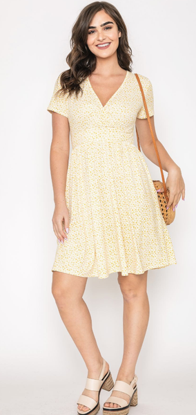 Floral and Fabulous Dress in Yellow