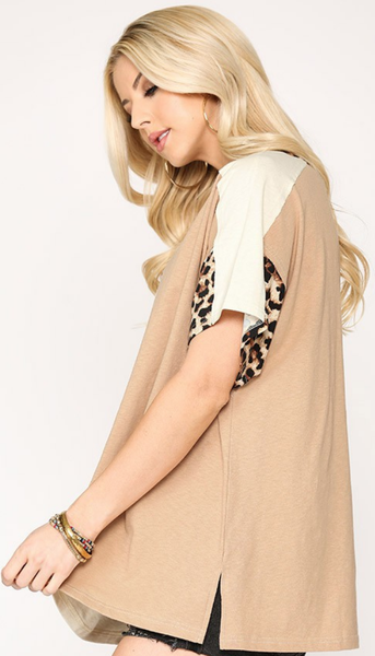 Leapin' Leopard Top in Brown