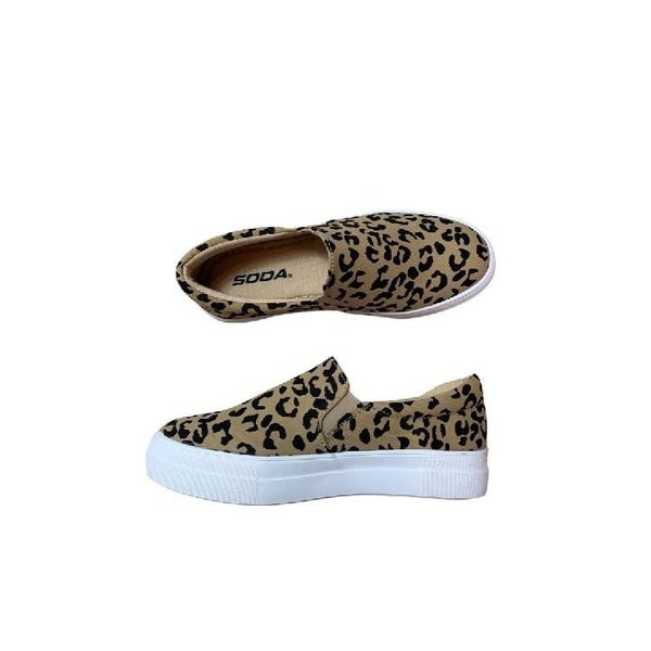 Stay Casual Canvas Sneakers in Leopard Print