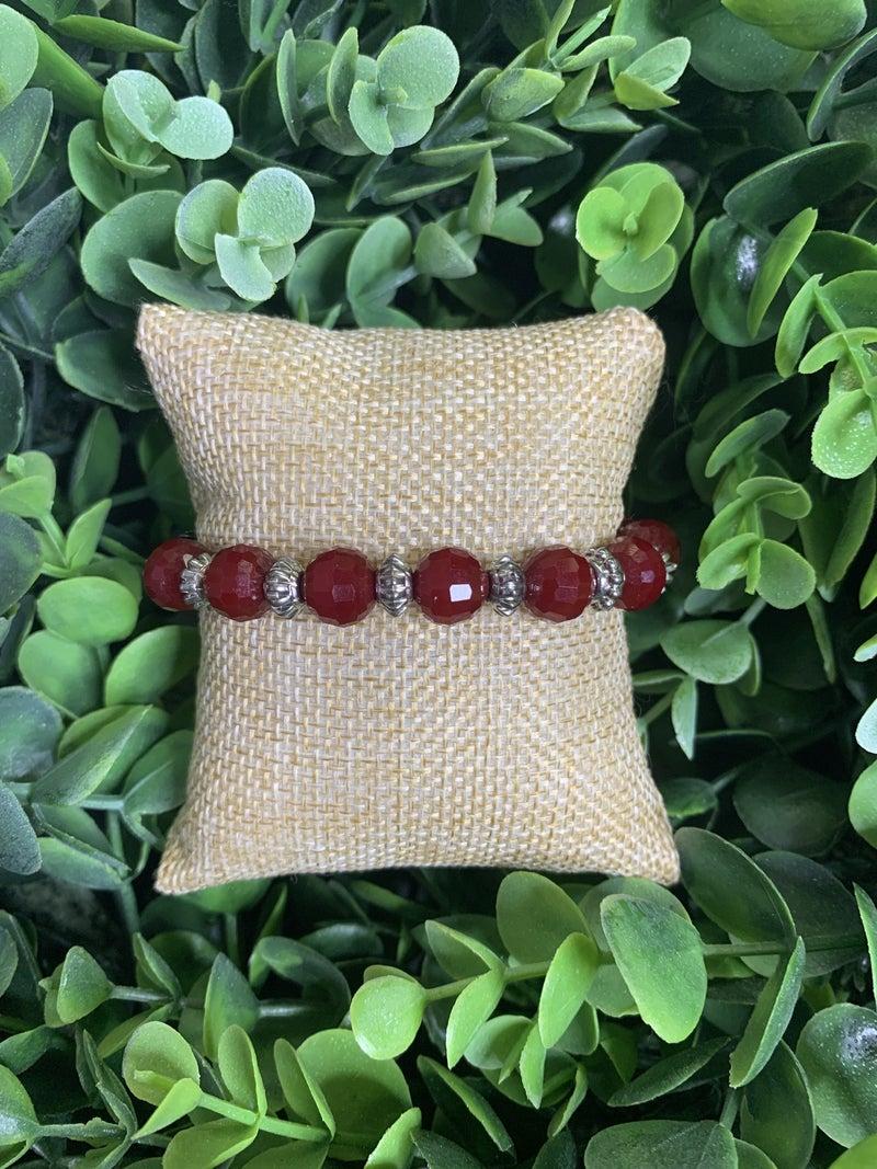 Island Tropics Bracelet in Dark Red