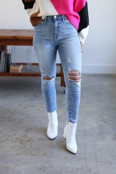 Abby Distressed Skinny Jean