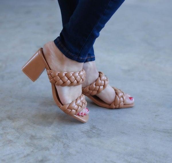 Braided Block Heel