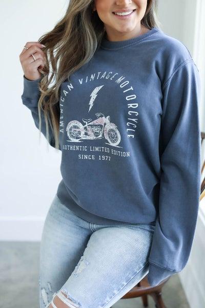 American Vintage Motorcycle Sweatshirt