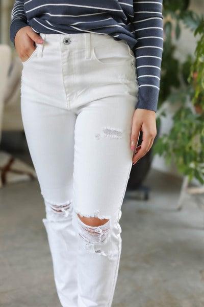 White High Rise 90's Skinny Jean