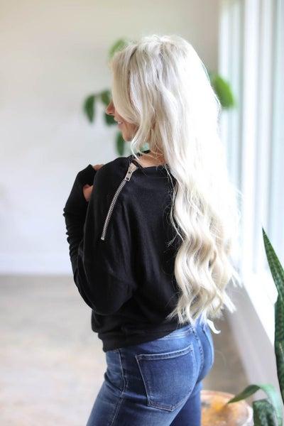 Zip Shoulder Top