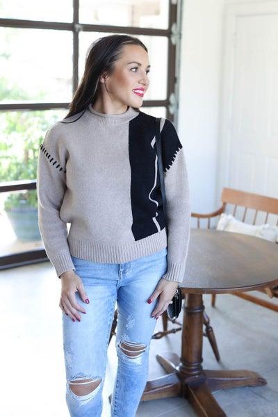 Jori Color Block Sweater