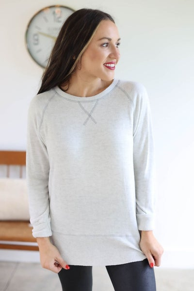 Double Layered Knit Tunic Top