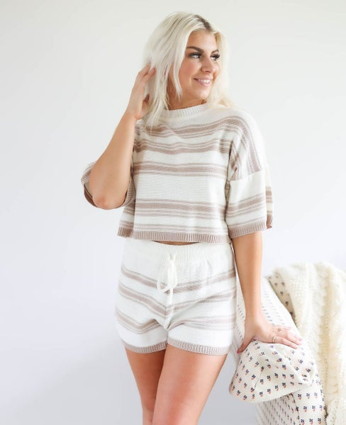 Stripe Sweater Set