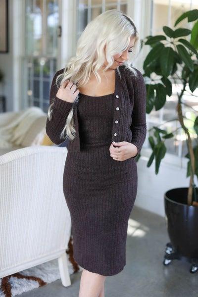 Kara Knit Dress Cardigan Set