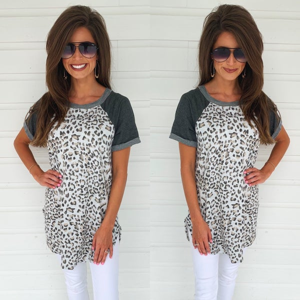 On A Mission Cheetah Top
