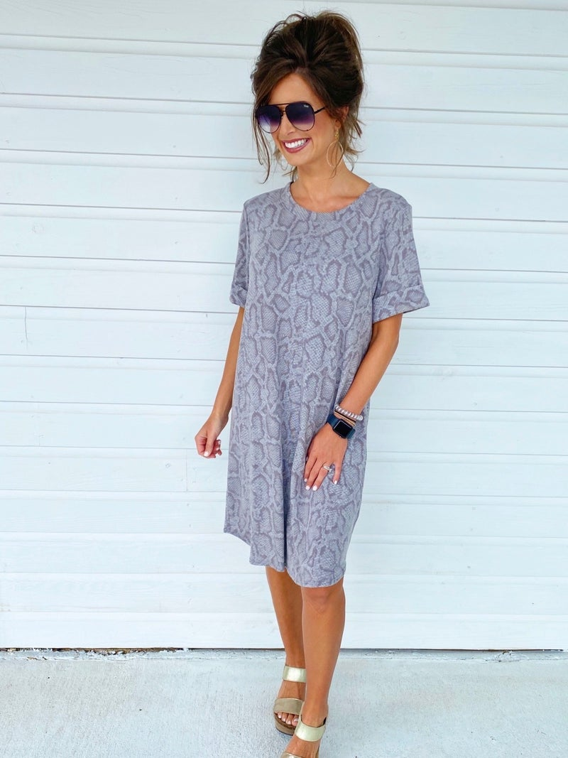 Totally Taupe Python Dress