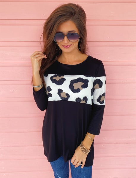 Wild About You Black Top *Final Sale*