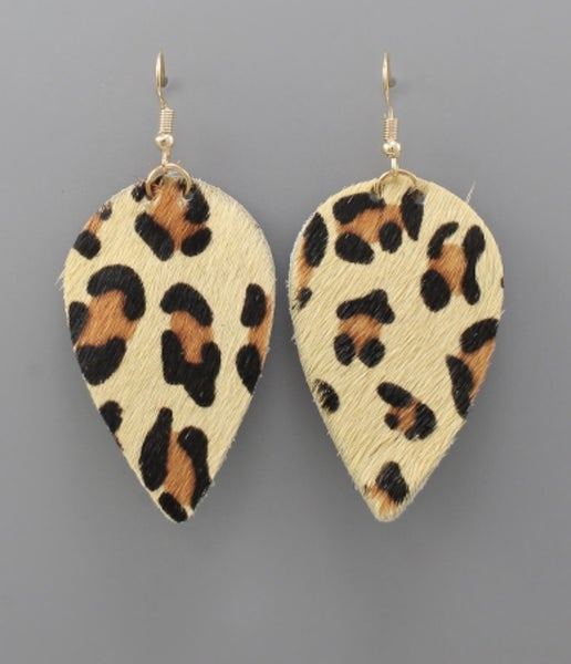 Liza Leopard Cowhide Earrings