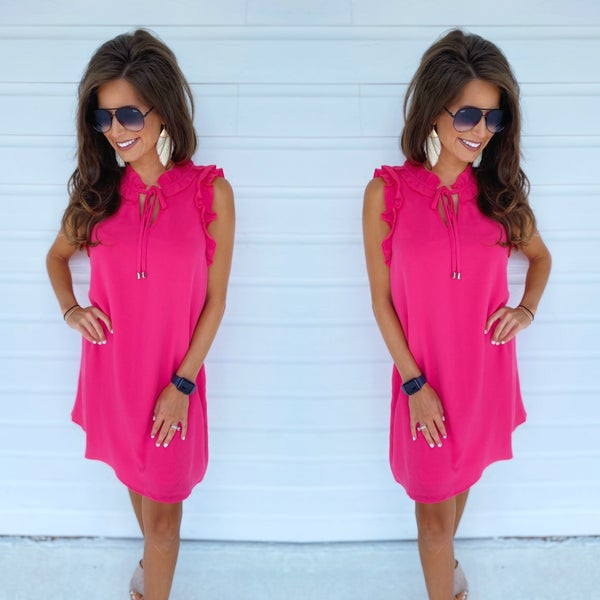 Hey Girl Hot Pink Dress