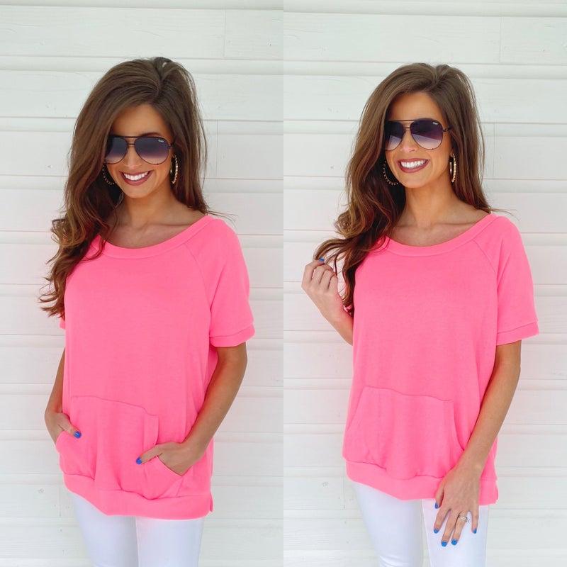 Neon Lights Pink Top