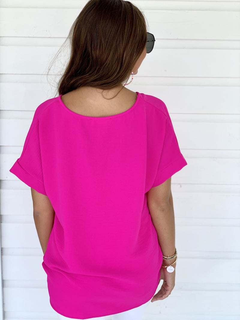 Hot Pink Knot Top