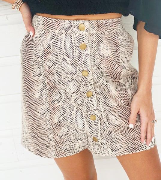 Sadie Snake Print Skirt