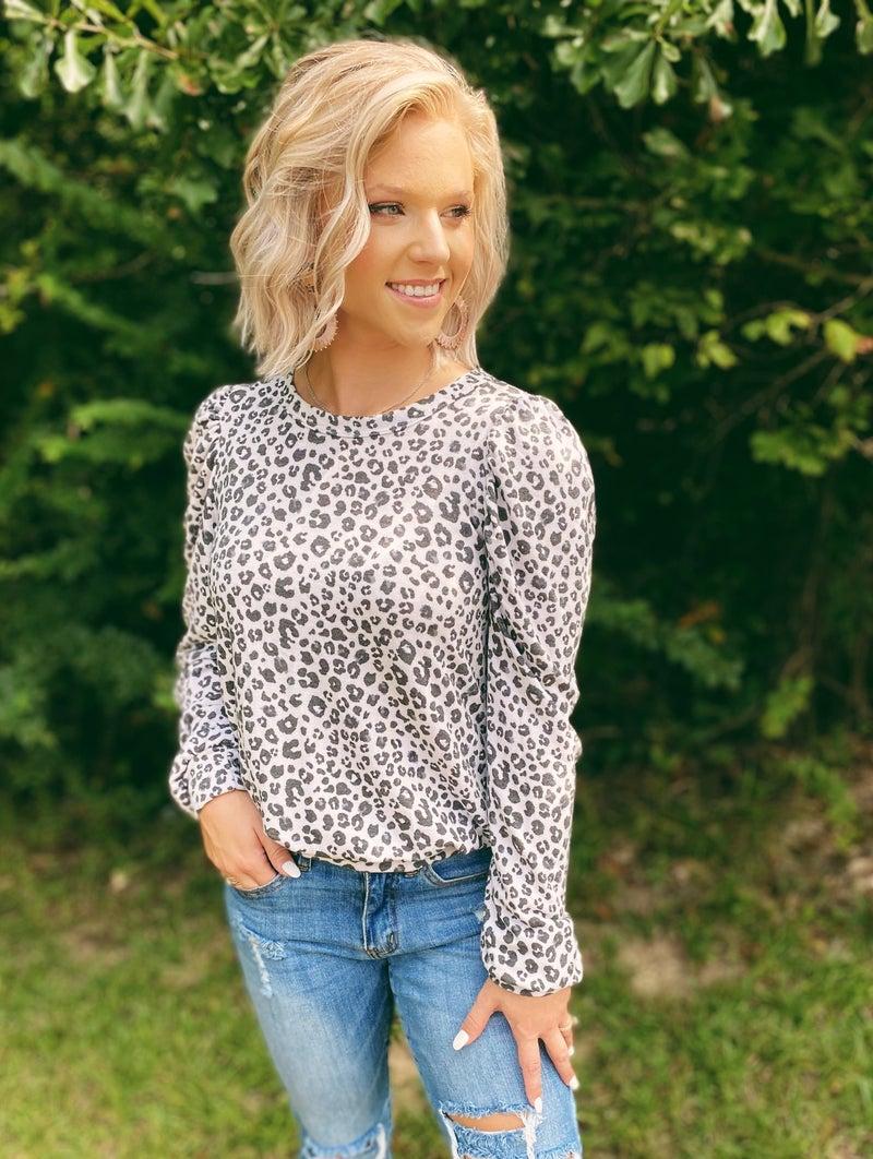Let Me Go Leopard Top