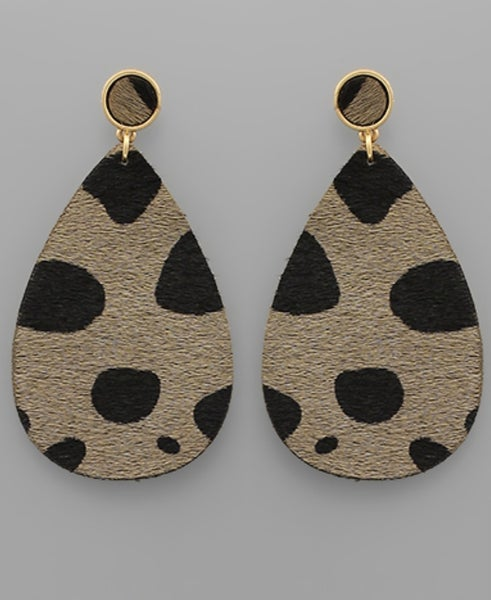 Grayton Cheetah Teardrop Earrings