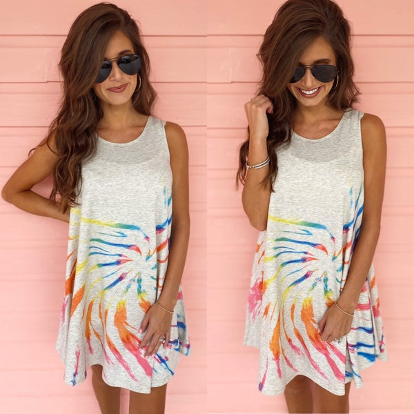 Talk About Tie Dye Dress