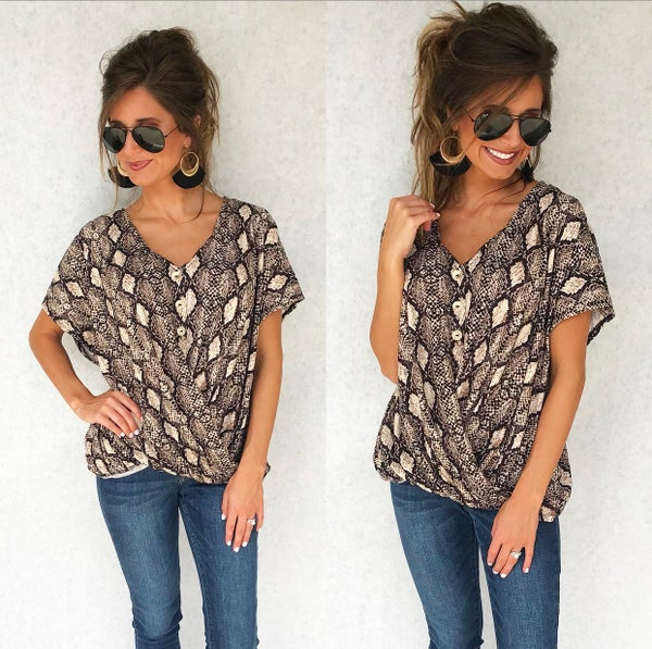 Python Party Button Up Top