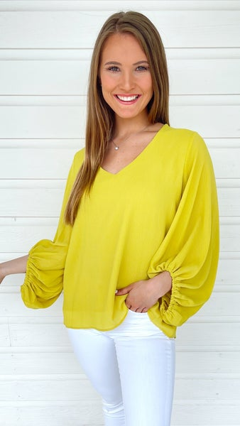 Lime Textured Blouse