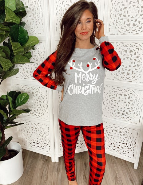 ~PRE-ORDER~ Oh Deer Merry Christmas Pajama Set